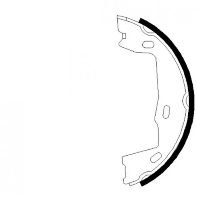 Glober Колодки тормозные барабанные/ Opel Astra G