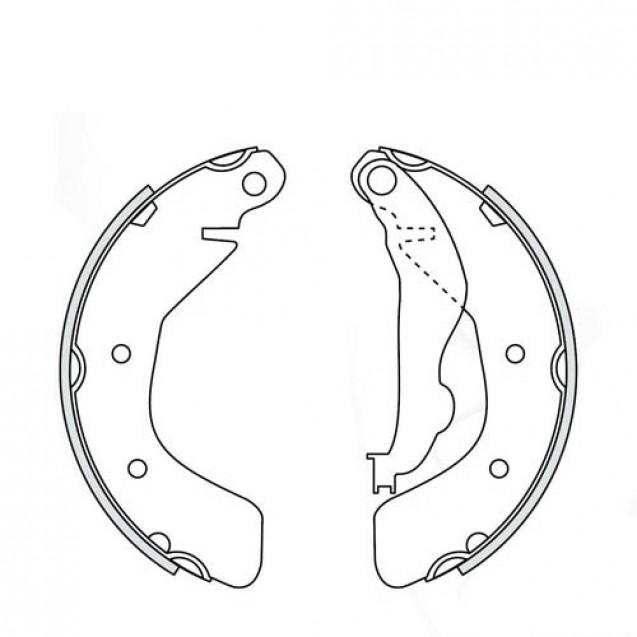 Glober Колодки тормозные барабанные задние/ Chevrolet AVEO