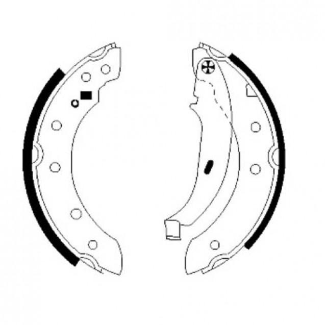 Glober Колодки тормозные барабанные задние/DACIA  LOGAN