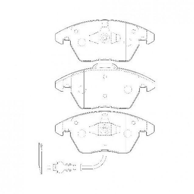 Glober Колодки тормозные дисковые/ Audi A1