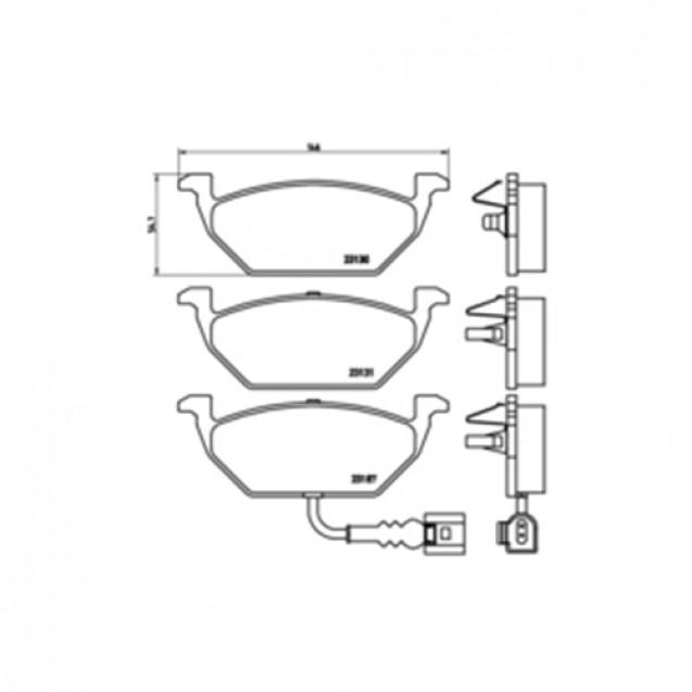 Glober Колодки тормозные дисковые/ Audi A3