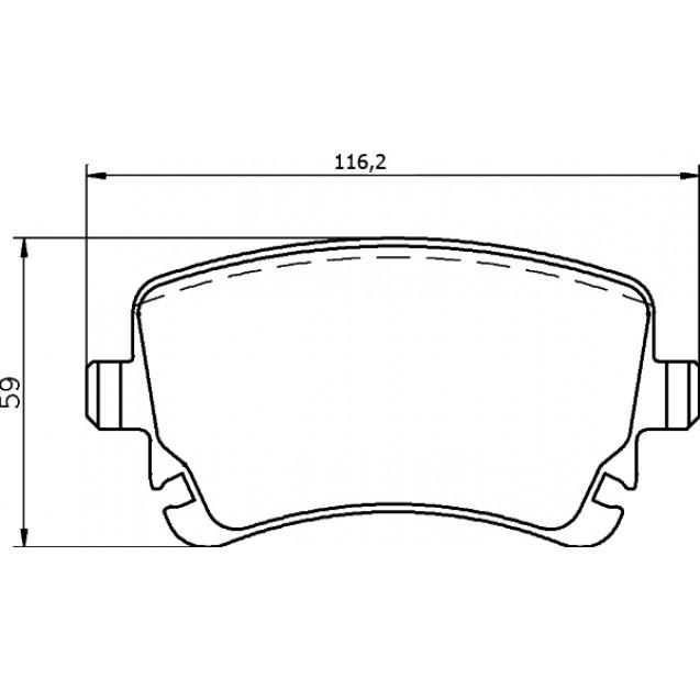 Glober Колодки тормозные дисковые/ Audi A8