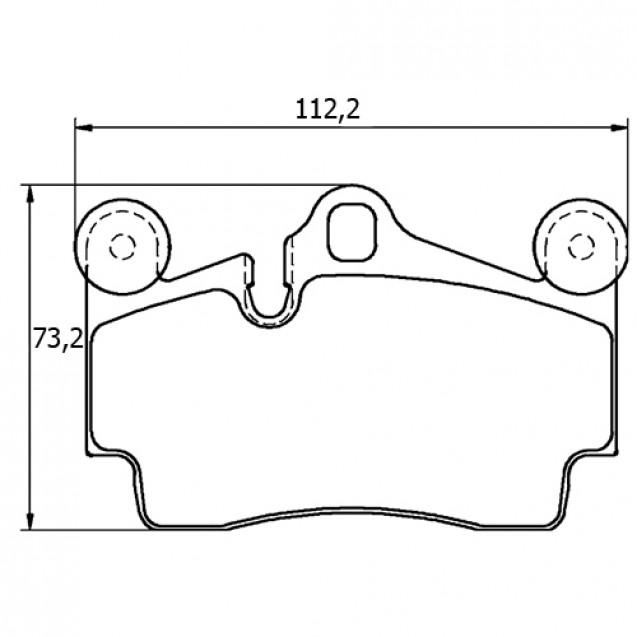 Glober Колодки тормозные дисковые/ Audi Q7