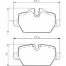 Glober Колодки тормозные дисковые/ BMW 1 (116)