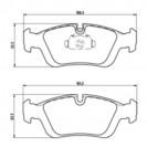 Glober Колодки тормозные дисковые/ BMW 3 (E36)