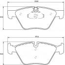 Glober Колодки тормозные дисковые/ BMW 3 (E90)
