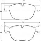 Glober Колодки тормозные дисковые/ BMW X5
