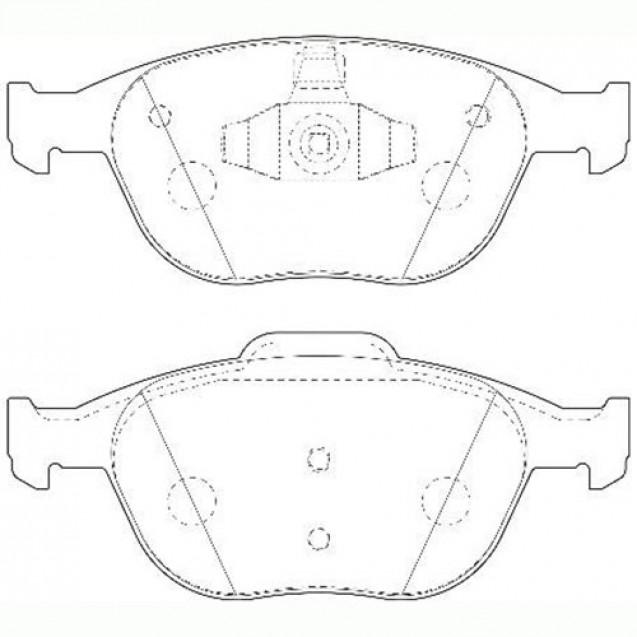 Glober Колодки тормозные дисковые/ Ford Tourneo Connect