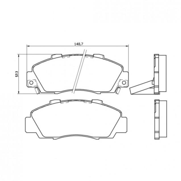 Glober Колодки тормозные дисковые/ Honda Accord IV Aerodeck