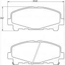 Glober Колодки тормозные дисковые/ Honda Accord IX