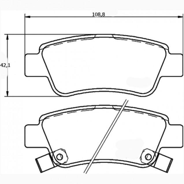 Glober Колодки тормозные дисковые/ Honda CR-V III
