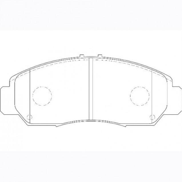 Glober Колодки тормозные дисковые/ Honda FR-V