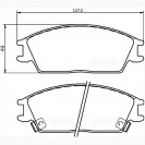 Glober Колодки тормозные дисковые/ Hyundai Accent I