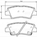 Glober Колодки тормозные дисковые/ Hyundai Accent IV