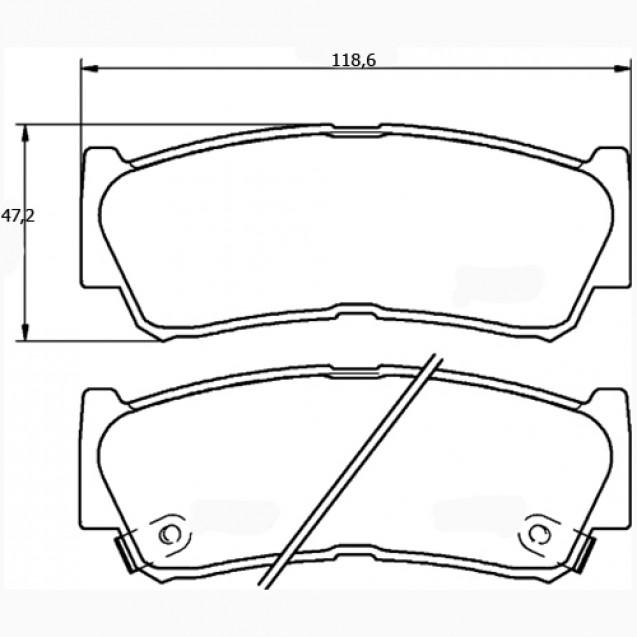 Glober Колодки тормозные дисковые/ Hyundai H-1