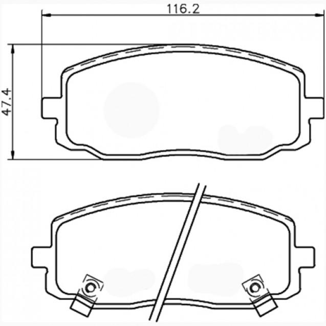 Glober Колодки тормозные дисковые/ hYUNDAI i10
