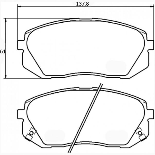 Glober Колодки тормозные дисковые/ Hyundai IX35