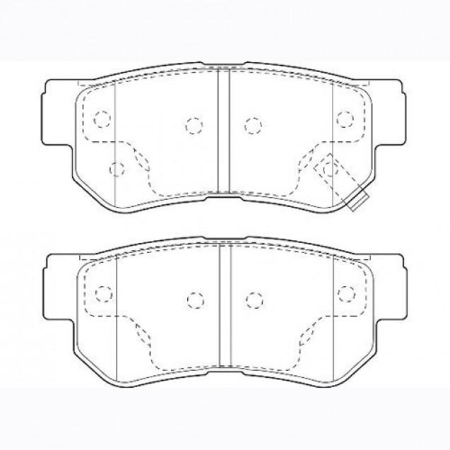 Glober Колодки тормозные дисковые/ Hyundai Matrix