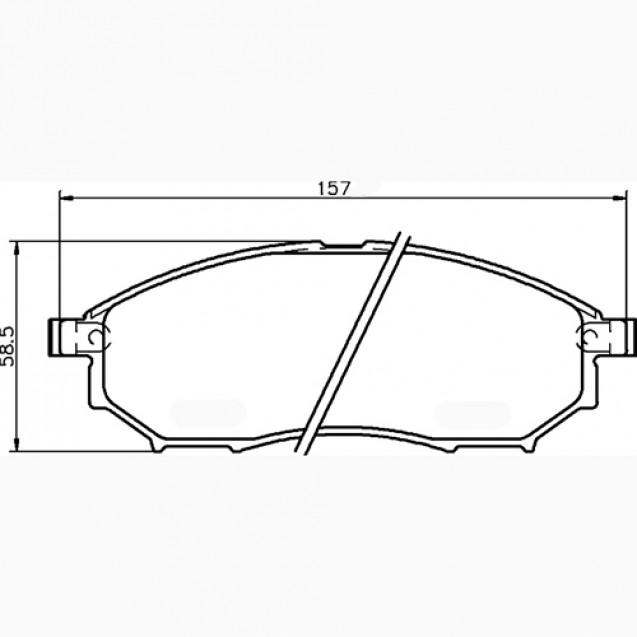 Glober Колодки тормозные дисковые/ Infiniti M35