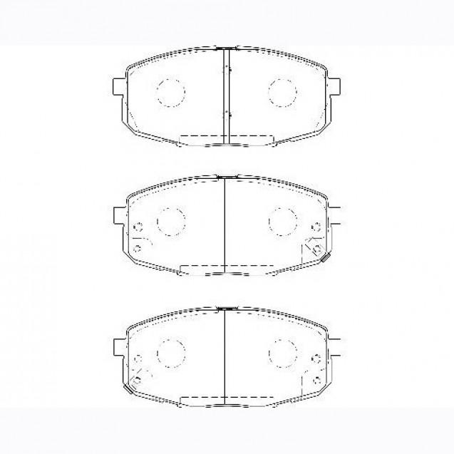 Glober Колодки тормозные дисковые/ KIA Carens