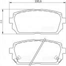 Glober Колодки тормозные дисковые/ KIA Carens II