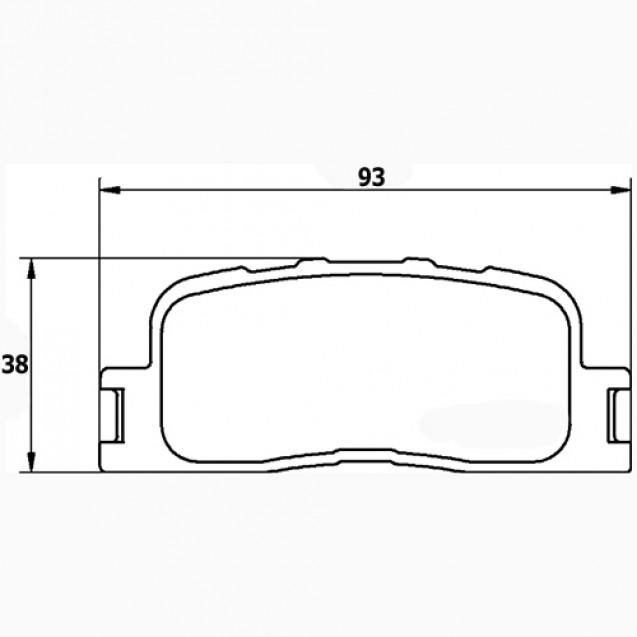Glober Колодки тормозные дисковые/ Lexus ES