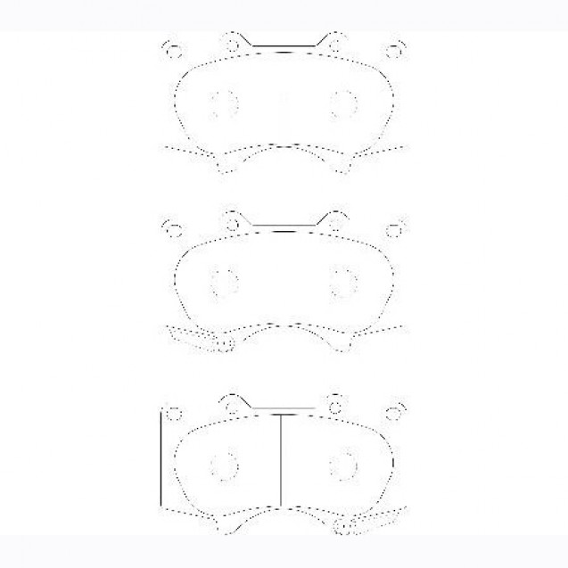 Glober Колодки тормозные дисковые/ Lexus GX