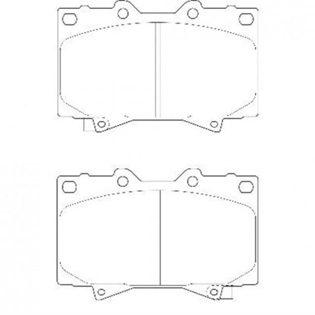 Glober Колодки тормозные дисковые/ Lexus LX
