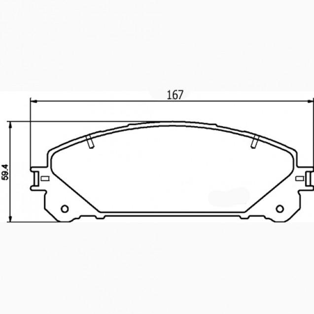 Glober Колодки тормозные дисковые/ Lexus RX