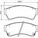 Glober Колодки тормозные дисковые/ Mazda 6