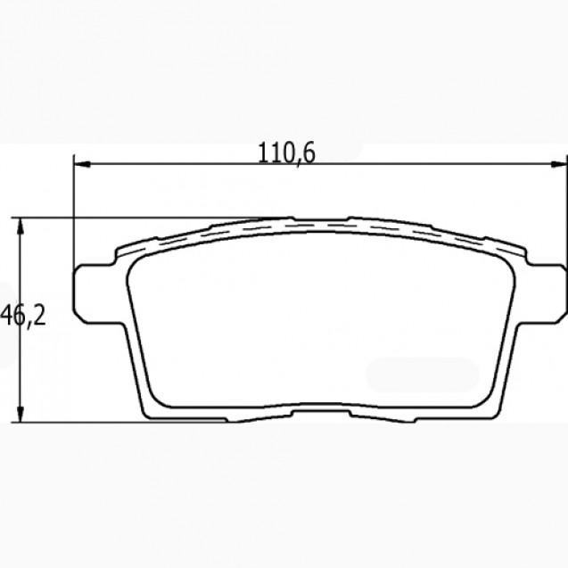 Glober Колодки тормозные дисковые/ Mazda CX-7