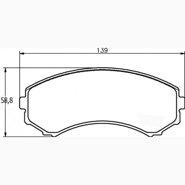 Glober Колодки тормозные дисковые/ Mazda MPV