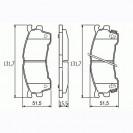 Glober Колодки тормозные дисковые/ Mazda MX-6