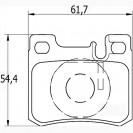 Glober Колодки тормозные дисковые/ Mercedes-Benz 190