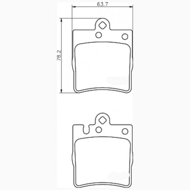Glober Колодки тормозные дисковые/ Mercedes-Benz CLK