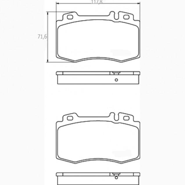 Glober Колодки тормозные дисковые/ Mercedes-Benz CLS