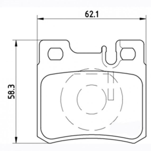 Glober Колодки тормозные дисковые/ Mercedes-Benz Coupe