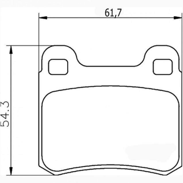 Glober Колодки тормозные дисковые/ Mercedes-Benz E-Class