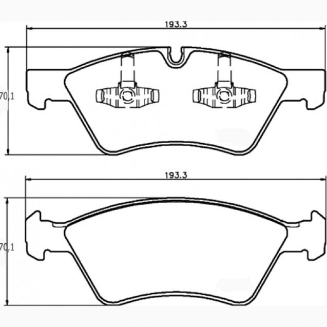 Glober Колодки тормозные дисковые/ Mercedes-Benz M-Class