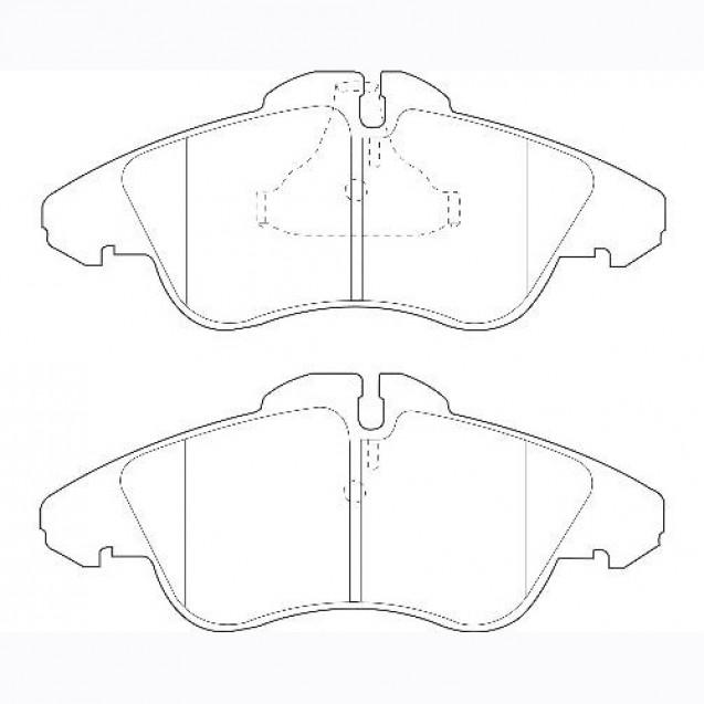 Glober Колодки тормозные дисковые/ Mercedes-Benz Sprinter 2-T