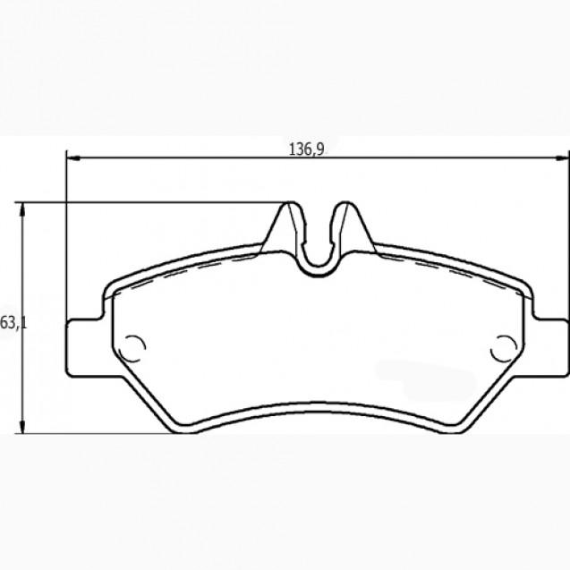 Glober Колодки тормозные дисковые/ Mercedes-Benz Sprinter 3.5-T