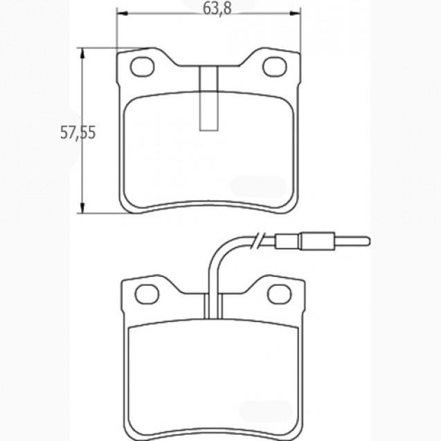 Glober Колодки тормозные дисковые/ Mercedes-Benz V-Class
