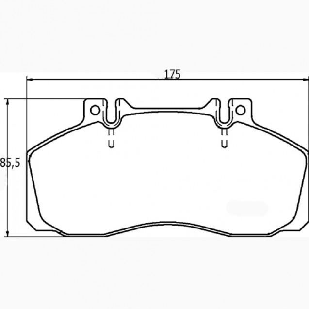 Glober Колодки тормозные дисковые/ Mercedes-Benz Vario
