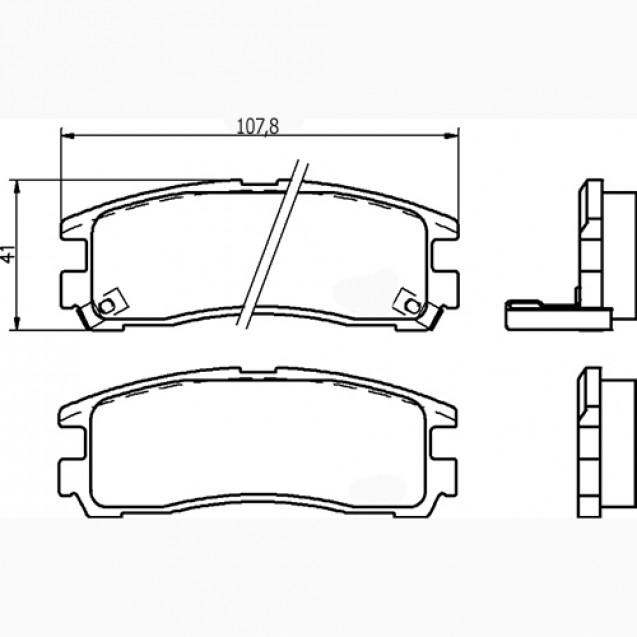 Glober Колодки тормозные дисковые/ Mitsubishi 3000 GT