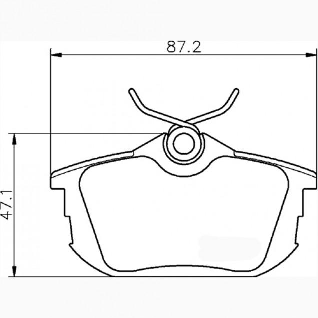 Glober Колодки тормозные дисковые/ Mitsubishi Carisma