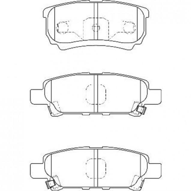 Glober Колодки тормозные дисковые/ Mitsubishi Lancer