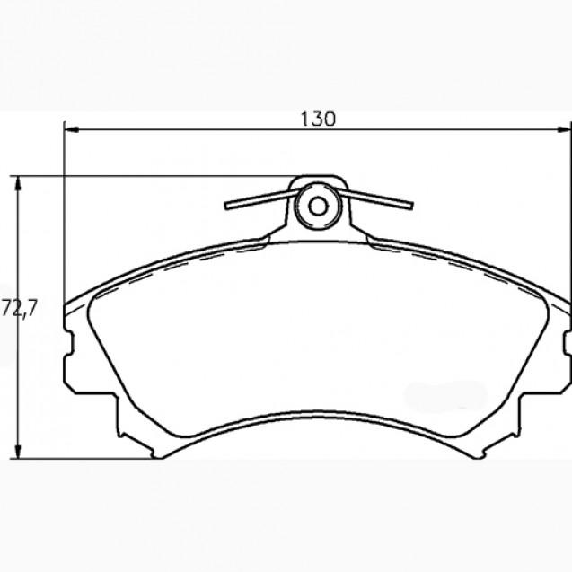 Glober Колодки тормозные дисковые/ Mitsubishi Space Star