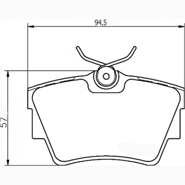 Glober Колодки тормозные дисковые/ Nissan Primastar