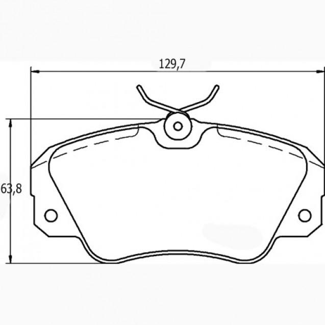 Glober Колодки тормозные дисковые/ Opel Omega B