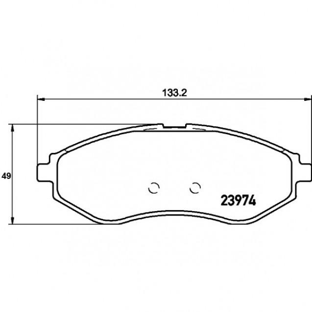 Glober Колодки тормозные дисковые передние/ Chevrolet AVEO